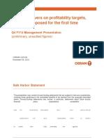 (413624257) OSRAM Management Presentation Q4 FY14 Preliminary Unaudited