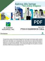 JGSHI Presentation FullYearEarningsCall2015