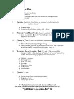 five part lesson plan