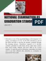 National Examination as Graduation Student