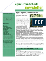 Oregon Green Schools Newsletter, Fall 2009
