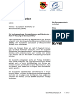 100% Sanktionen rechtswidrig – EGMR gegen die Schweiz – Medieninformation