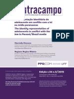 MORESCO, Marcielly. a Representação Identitária Do Adolescente Em Conflito Com a Lei Na Mídia Paranaense (Revista Contracampo UFF)