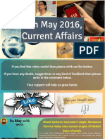 9 May 2016 Current Affair for Competition Exams