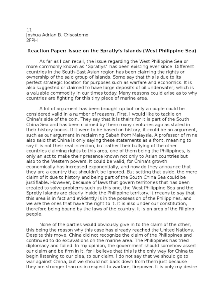 Reaction on the West Philippine Sea Issue | South China Sea