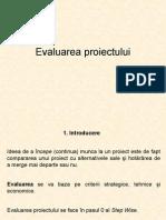 Evaluarea proiectului