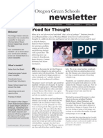 Oregon Green Schools Newsletter, Spring 2003, Food for Thought