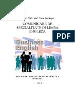 Comunicare de Specialitate in Limba Engleza