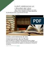 Este 23 de Abril Celebramos Un Nuevo Día Mundial Del Libro