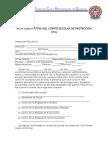 Acta Constitutiva Del Comité Escolar de Protección Civil