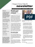 Oregon Green Schools Newsletter, Fall 2004, Energize Your Conservation Program!