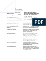 RECUSAL Notice of Cross-motion 01-18-13