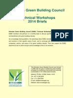EGBC Technical Workshops 2014 Briefs FINAL