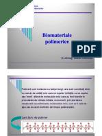 5 Curs6 Biomateriale Polimeri