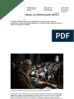 Para Fernando Rosas, Só a História Pode Salvar o Futuro - PÚBLICO