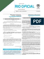 Diario oficial de Colombia n° 49.842. 12 de abril de 2016