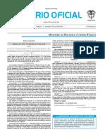 Diario oficial de Colombia n° 49.843. 13 de abril de 2016