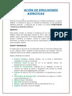 Destilación de Emulsiones Asfálticas