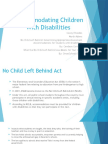 accommodating children with disabilities