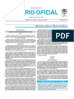 Diario oficial de Colombia n° 49.845. 15 de abril de 2016