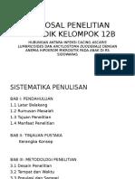 Proposal Penelitian Biomedik Kelompok 12b