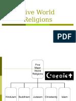 major world religions modified