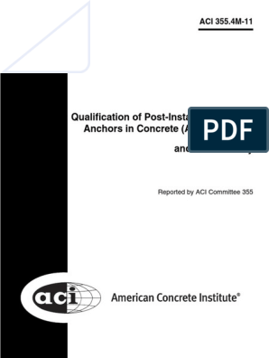 Qualification of Post-Installed Adhesive Anchors in Concrete and Commentary
