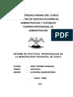 Informe de Practicas Universidad Andina de Cusco
