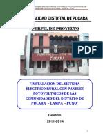 PIP Instalac. Sistema Eléctrico Rural Con Paneles Fotovoltaicos