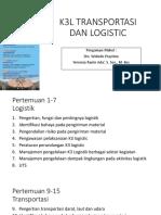 k3l Transportasi Dan Logistic