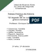 """""""El legado de la cultura  greco-romana"""""""