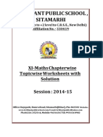 Doc 1104B B.P.S. XI Maths Chapterwise Topicwise Worksheets With Solution 2014 15