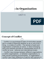 Conflicts in Organisation