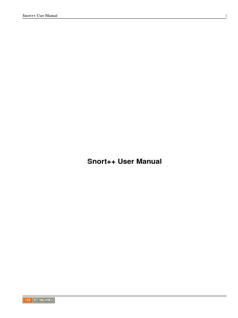 Snort Manual | Hypertext Transfer Protocol | Internet Standards