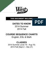 West LA College - 8.1 2014 Summer & 9.2 2014 Fall - Schedule
