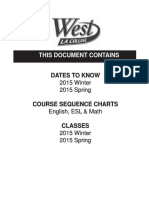 West LA College - 8.3 2015 Winter & 8.4 2015 Spring - Schedule
