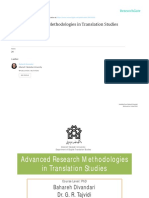 Advanced Research Methodologies in Translation Studies