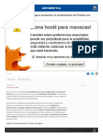 Trucos Aumentar Rendimiento Firefox