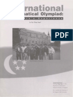 The International Mathematical Olympiad- Singapore's Experience