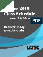 LA Trade Tech - 8.3 2015 Winter - Schedule