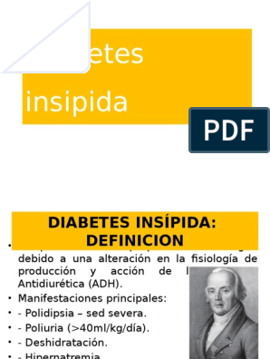 terapia de dieta para diabetes insípida