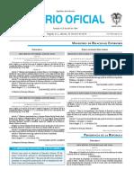 Diario oficial de Colombia n° 49.853. 23 de abril de 2016