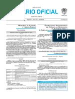 Diario oficial de Colombia n° 49.856. 26 de abril de 2016