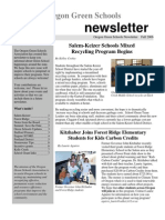 Oregon Green Schools Newsletter, Fall 2006, Salem-Keizer Schools Mixed Recycling Program Begins