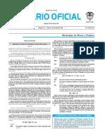 Diario oficial de Colombia n° 49.860. 30 de abril de 2016