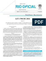 Diario oficial de Colombia n° 49.861. 02 de mayo de 2016