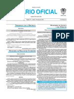 Diario oficial de Colombia n° 49.862. 03 de mayo de 2016
