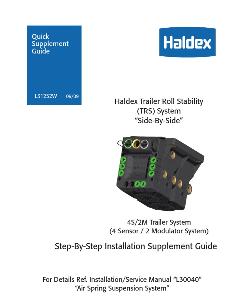 Haldex Guia Electrical Connector Vehicle Technology Abs Trailer Wiring Diagrams