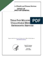 150601 HHS-OIG Texas Medicaid Dental Report