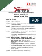 Agenda Foro Programático Nacional